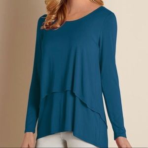 Soft Surroundings Perfect Layers Split Back Top